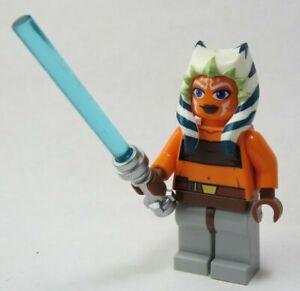LEGO-Star-Wars-Minifigure-Ahsoka-Figures-Lightsaber-2008-7675-7680-7751-8037