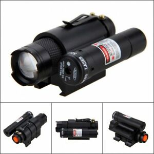 1200lm-SK68-XPE-LED-Hunting-Flashlight-Tactical-Red-Dot-Laser-20mm-Rail-for-Hunt