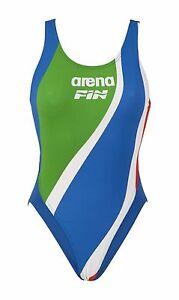 Costume olimpionico intero donna mare piscina fin arena tricolore mis 50 ebay - Costume da bagno tricolore ...