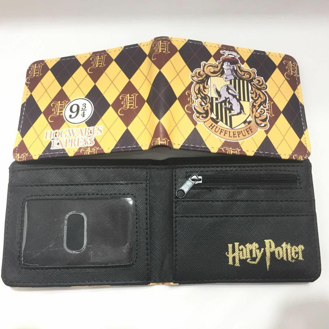 Wallet Harry Potter Hogwarts Crest Hufflepuff Bifold Men Coins Cards Notes