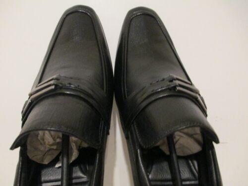Giorgio Brutini Mens Gideon 47914 Leather Slip On Loafer Shoes Black Sz 9.5-13