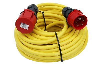 Kabel ZuverläSsig Cee Verlängerung 15m 32a Starkstromkabel 5x4mmn Cee-verlängerung Eine GroßE Auswahl An Waren Elektromaterial