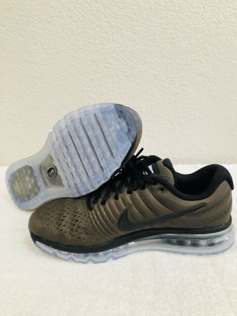 Mens Nike Air Max 2017 Running Shoes Size 8 8.5 9 Olive Green Black 849559 302