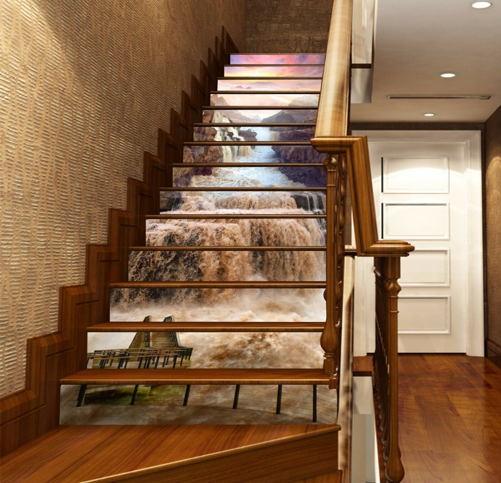 3D Muddy River 241 Stair Risers Decoration Photo Mural Vinyl Decal Wallpaper AU