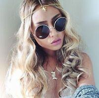70's Vintage Hippie Retro Round Metal Lennon Sunglasses Men Women Glasses