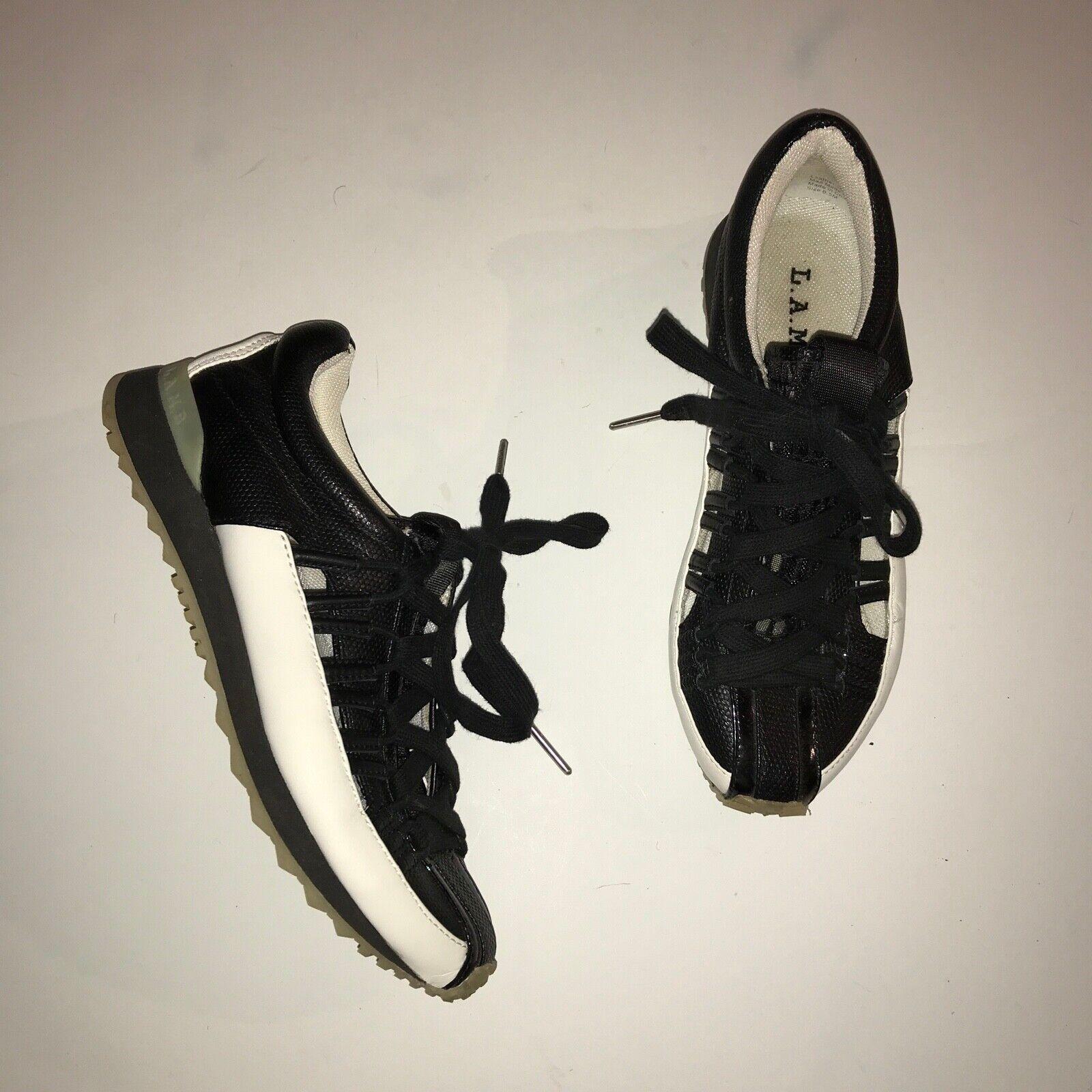 opciones a bajo precio L.A.M.B Bennie Para Mujeres Con Con Con Cordones Zapatos Tenis de Moda Negro Atlético Entrenadores  artículos novedosos