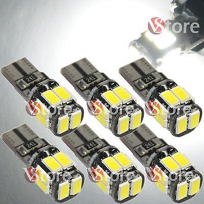 6 LED T10 Lampade 6 SMD 5630 Canbus Bianco No Errore Luci Posizione Xenon Targa
