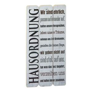 Wandschild-Dekoschild-Hausordnung-Familie-Schild-Sprueche-Vintage-Shabby