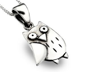 Pure origins 925 sterling silver owl pendant with oxidised detail image is loading pure origins 925 sterling silver owl pendant with mozeypictures Image collections