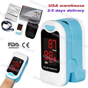 US-Finger-Fingertip-Blood-Oxygen-Meter-SPO2-LED-Pulse-Heart-Rate-Monitor-Pouch