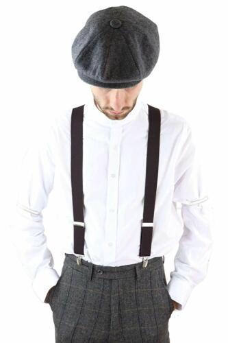 PEAKY BLINDERS BRACES SUSPENDERS BLACK TOMMY SHELBY FANCY DRESS GATSBY 1920 1930