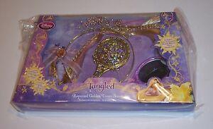Disney Store Tangled Rapunzel Golden Tresses Set Hair Braid Brush Tiara Mirror Ebay
