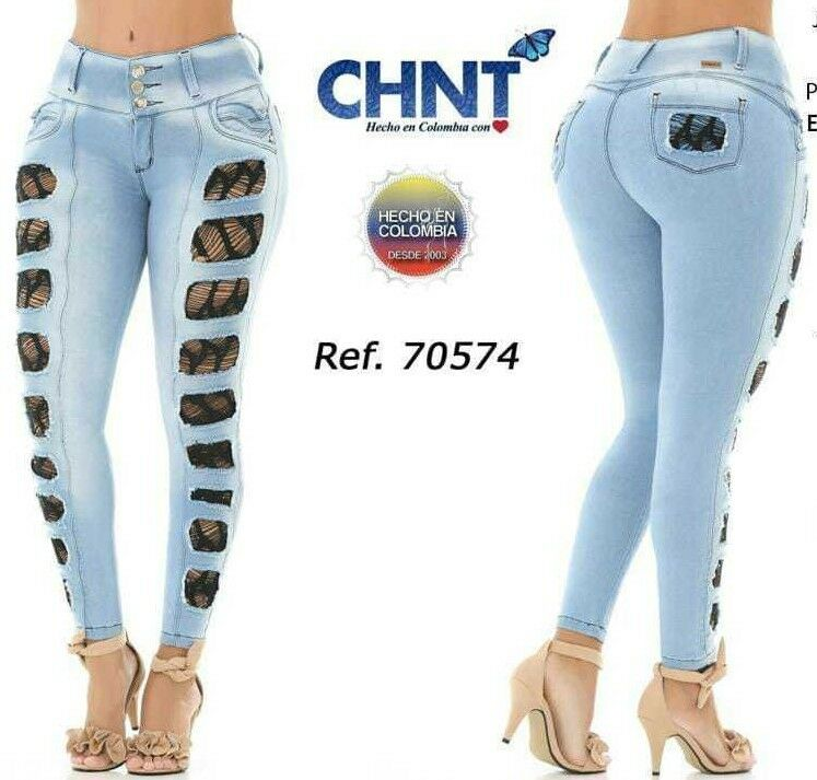 BUTT LIFTER COLOMBIAN SKINNY JEANS IN ICE blueE COLOR BY CHNT