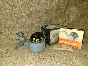 NOS-Vintage-Original-AIRGUIDE-Accessory-COMPASS-Visi-Dome-Lighted-GM-Chevy-Ford
