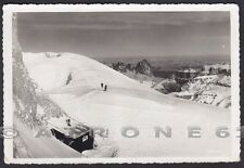 TRENTO MARMOLADA 35 CAPANNA RIFUGIO NEVE Cartolina FOTOGRAFICA viaggiata 1943