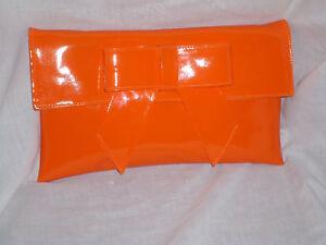 embrague bolsa charol de Gran de hombro naranja Ezwqvq