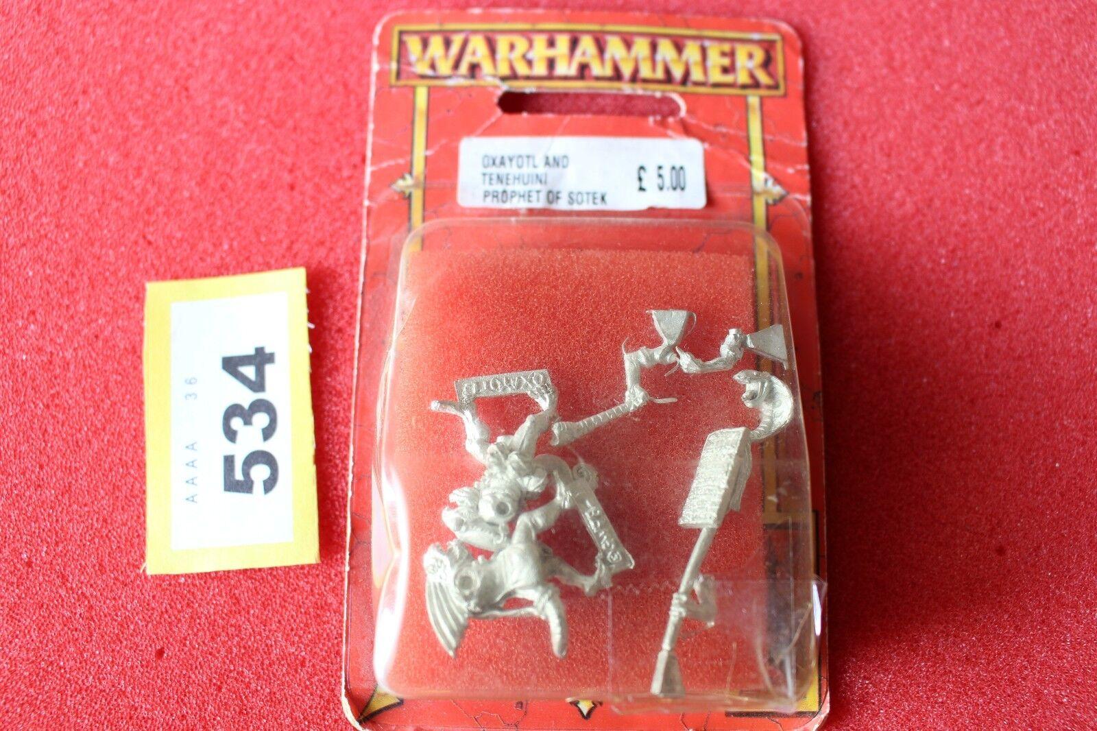 barato y de alta calidad Juegos taller Warhammer Lagarto Lagarto Lagarto oxayotl y tenehuini profeta de Sotek Nuevo Y En Caja  ventas en línea de venta
