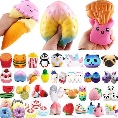 Squishy Stress Reliever Squishies Squeeze Toy Key Ring Relief Gift Set Jumbo Uk Halten Sie Die Ganze Zeit Fit