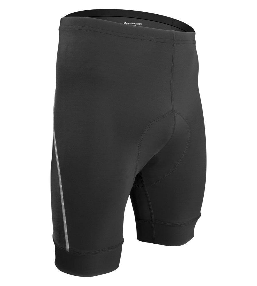 Aero Tech Designs Big Man Clydesdale Padded Bike Shorts With Wide Chamois