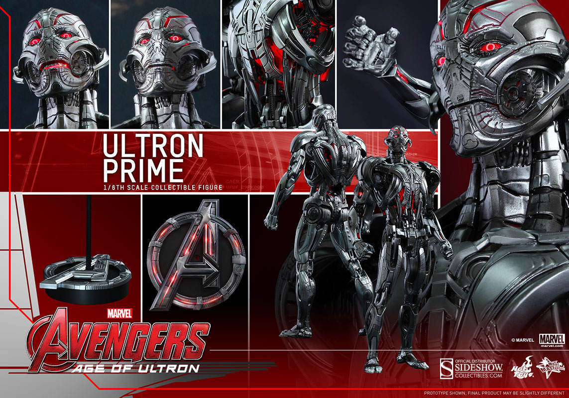 AVENGERS AGE of ULTRON    ULTRON PRIME 1 6 Action Figure 12  HOT TOYS 4699ad