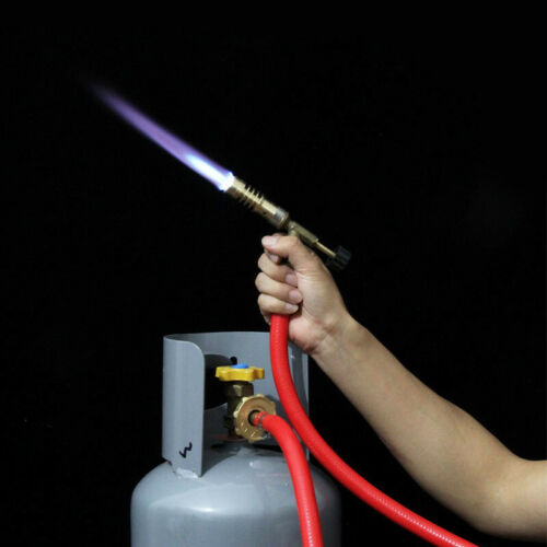 Mapp Gas Self Ignition Plumbing Turbo Torch With Hose Solder Propane Welding HOT