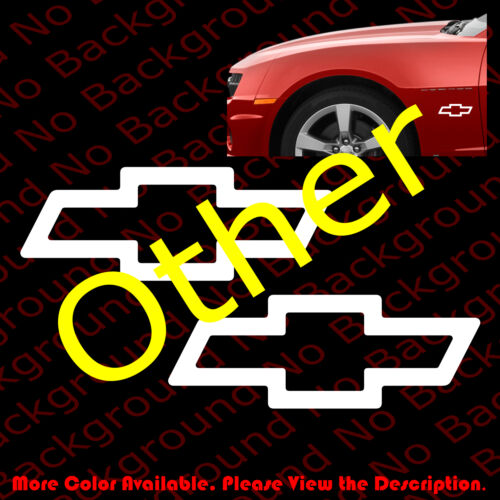 ONE PAIR x Outline Only Bowtie Chevy Chevrolet Car Window Decal Die Cut RC098