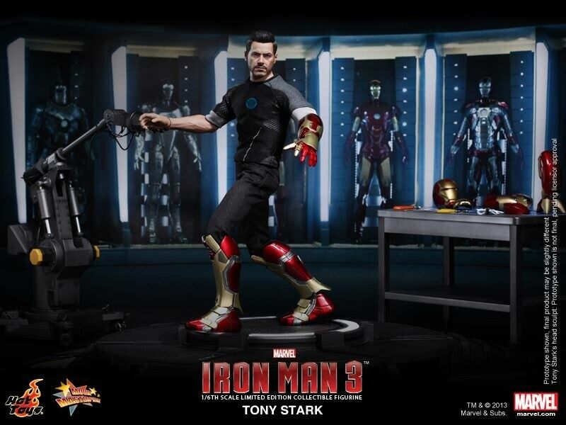 Hot Toys MMS191 Iron Man 3 Tony Stark Workshop Test Ver 1//6 Armor