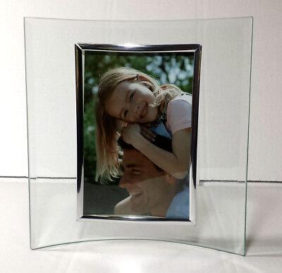 Bilderrahmen für 2 Fotos mit Bambus Design Geschwungener Glas Fotorahmen 2x...
