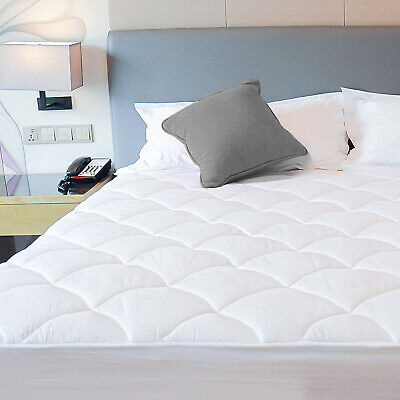 Luxury Deep Pocket Mattress Pad Fitted Quilted Topper 300TC Cotton Cooling New