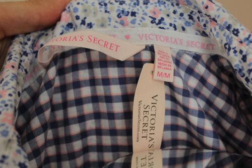 Victoria's Gr Secret 100 Floral M Blue Sleepshirt Nwt Cotton 60w6F