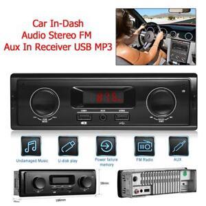 Autoradio-Player-1-DIN-Auto-Radio-LED-USB-Stereo-MP3-FM-Player-Fernbedienung