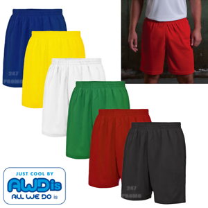 AWDis Men/'s Performance Pantaloncini Palestra Sport Corsa Foderato wickable Sun Protection