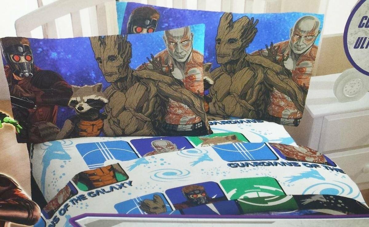 MARVEL Guardians of the Galaxy Reversible Reversible Reversible Comforter Twin Größe 4 pieces set sheet 86a1ee