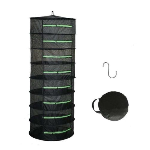 Herb Drying Rack 4//6//8 Layer Drying Net Herb Dryer W// Carry Bag Mesh Zippers
