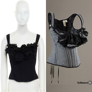 runway-TAO-COMME-DES-GARCONS-AW2005-black-lace-ruffle-bust-laced-corset-top-S