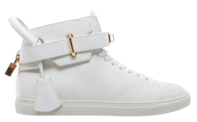BUSCEMI Mens 100MM Sport White Leather