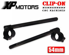 54mm CNC Machined Clipons Clip-On HandleBars For Buell 1125R 2008-2009 Black