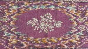 Vintage-Tapestry-Table-Runner-Made-In-Italy-Burgundy-Roses-Woven-11-5x35