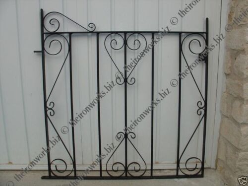 QUALITY ELITE WROUGHT IRON METAL GARDEN GATE 78cm op  90cm TALL MADE TO MEASURE
