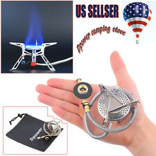 Dpower Ultralight Folding Backpacking Camping Gas-powered Stove with Piezo AP