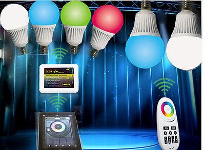 WiFi Smart IOS Android App Lamp LED wireless Colorful light bulb E14 CW WW