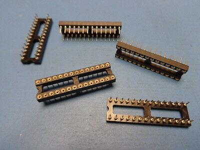 28 pin 300 MIL DIP MILL-MAX 110-91-328-41-001000 Solder Tin lead IC Socket 14