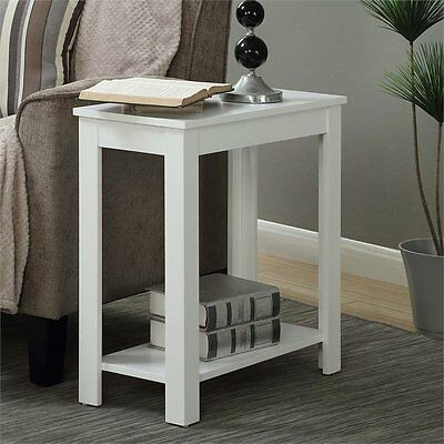 Convenience Concepts Designs2Go Baja Chairside End Table in White