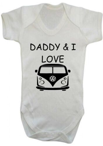 Strampler Daddy /& Ich liebe VW Wohnmobil Body Weste Baby Kleidung Geschenk