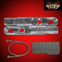 2000 Gsxr 600 12 Inch Stretch Swingarm Extensions Kit Chain And 36 Brake Line