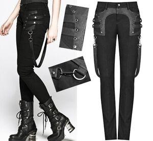 Jeans pantalon gothique punk steampunk rivets sangle pochette Punkrave Homme