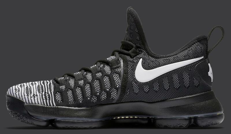Nike kd 9 ix ix 9 oreo - schwarz - weiß - mikrofon tropfen größe 9.843392-010 jordan kobe 933822