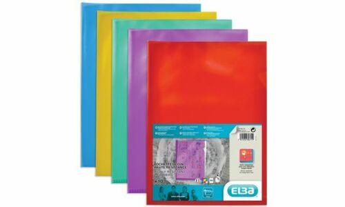 10x Elba Dokumentenhülle Sichthülle A4 rot transparent Kunststoff