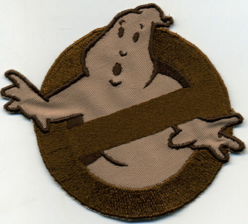 Tan /& Brown Embroidered Ghostbusters 1 Style No Ghost Patch w// HOOK backing