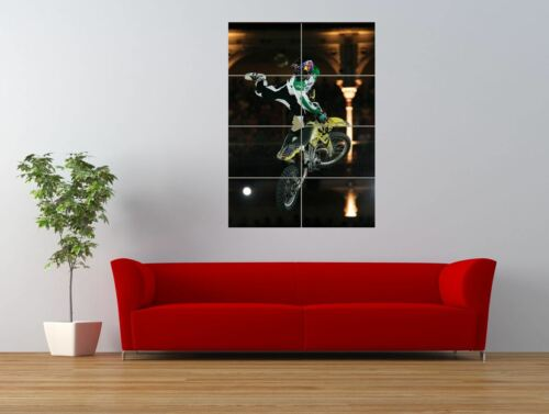 TRAVIS PASTRANA MOTORCYCLE MOTORBIKE STUNT GIANT ART PRINT PANEL POSTER NOR0647